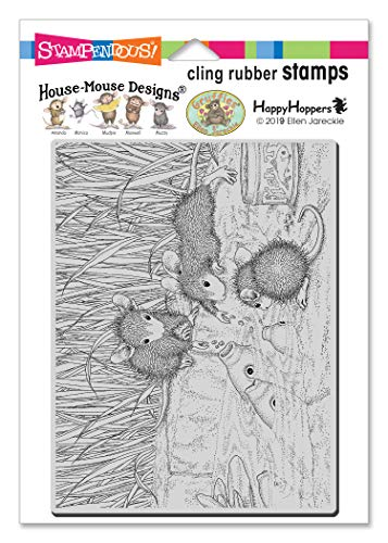 STAMPENDOUS HOUSE MOUSE CLING FEEDIN KOI, Rubber