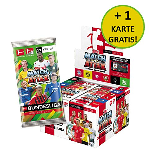 Topps BL2-DE2 Match Attax Sammelkarten 2020/21, 36 Booster im Display