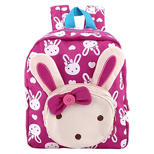 Vicloon Cute Rabbit Animals Child Shoulders Bag Kids Book Backpack Baby Girls School Bag Rose