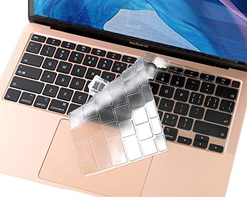 Ultra Thin Keyboard Cover for New 2020 MacBook Air 13 Inch Release with Touch ID Model A2179, Clear MacBook Air 13 A2179 Keyboard Protector Skin Accessories, TPU