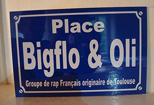 plaque de rue BIGFLO & OLI Toulouse biflo et oli Rap B & O