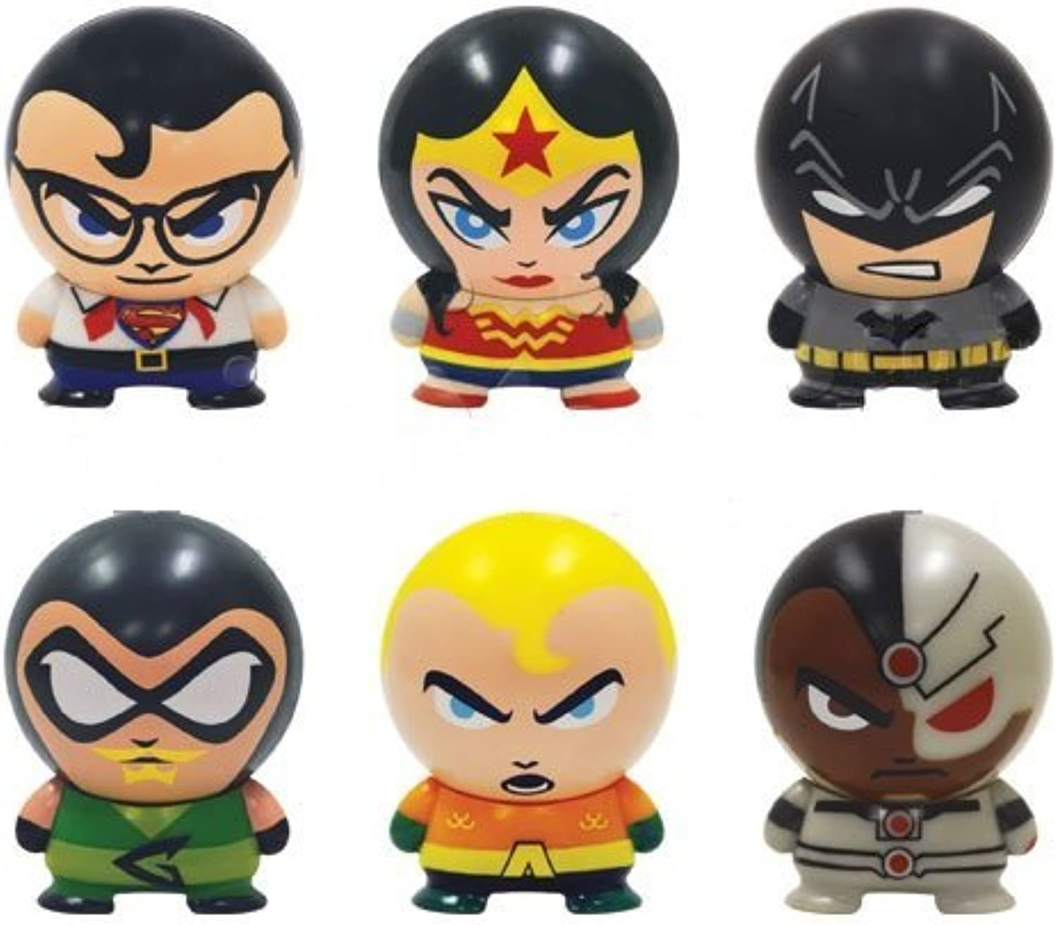 DC Comic Super Heroes Buildable mini figurines. Set of 6 by DC Comics