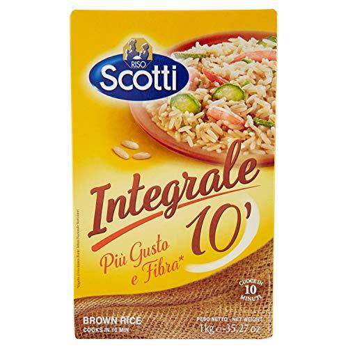 Riso Scotti, Riso Integrale 10', Riso per Risotti, Insalate e Contorni, 1kg
