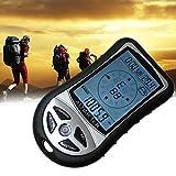 デジタルコンパス A-leaf 登山コンパス デジタル高度計 携帯気圧計 夜間使用可能 天気予報付き 羅針盤 カレンダー 超軽量 (高度計)