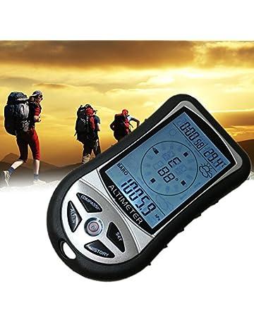 efa263fd75 デジタルコンパス A-leaf 登山コンパス デジタル高度計 携帯気圧計 夜間使用可能 天気
