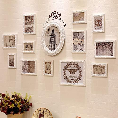 Mur de Photo Combinaison de Cadre Photo, Salon de Chambre à Coucher Mural décoration de Cadre Photo 13 Cadre / 16 Cadre, décoration Murale de Fond TV TV (avec Image de Fond)