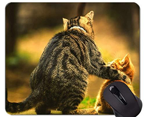 Yanteng Gaming Mouse Pad Custom, Warm Heart Kitten Cat Base de Goma Antideslizante Mousepad