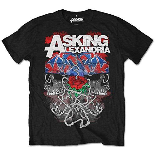 Asking Alexandria - Flagdana Herren Unisex T-Shirt schwarz - XXL
