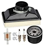 HIFROM Air Filter Oil Filter Spark Plug Fuel Filter Tune Up kit Compatible with Kawasaki FR541V FR600V 4-Cycle Engines 11013-0727 11013-7050 99999-0383 Lawn Mower