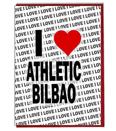 Tarjeta de felicitación Bilbao I Love Athletic - Tarjeta de cumpleaños -...