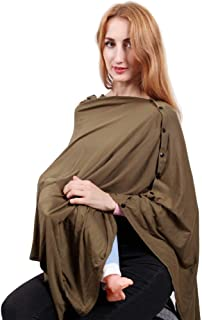 Nursing Cover for Breastfeeding,Breast Feeding Cover ups,Multi Use Baby Carseat Canopy Cover,Nursing Scarf for Boy&Girl (A-Army Green)