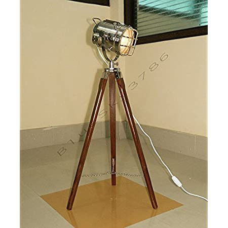 Nauticalmart Vintage Theater Industrial Tripod Floor Table Lamp Modern Nautical Searchlight
