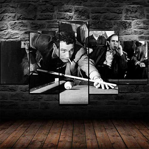 HHGJJ 5 Piezas Impresiones En Lienzo El Estafador PAU Newman 5 Piezas Cuadro sobre Lienzo,Cuadro En Lienzo 5 Piezas,Pintura Decoración 5 Piezas,HD Mural Moderno Decor Hogareña,150X80Cm
