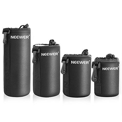 Neewer DSLR Fotocamera Borsa con Chiusura a Cordoncino 4 Taglie: S M L XL per Obiettivo di Sony, Canon, Nikon, Pentax, Olympus, Panasonic