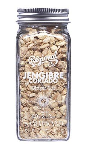 Zenzero - Radice di Zenzero Tagliato di Qualità Premium per i tuoi Piatti e Cocktail Preferiti 60 g