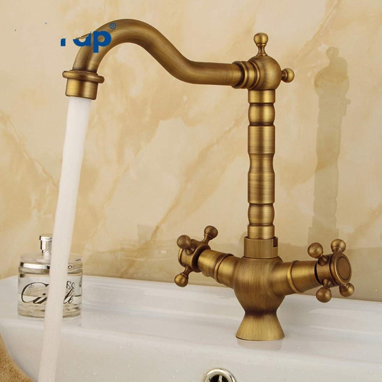Lddpl Wasserhahn Neue Waschtischarmaturen Antike Messing Waschbecken Wasserhahn Auslauf Doppelkreuzgriff Bad Küchenmischer Heien Und Kalten Wasserhahn
