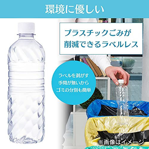 Smart Basic(スマートベーシック) [Amazon限定ブランド] 天然水 ラベルレス 500ml ×24本 富士山の天然水 ミネラルウォーター