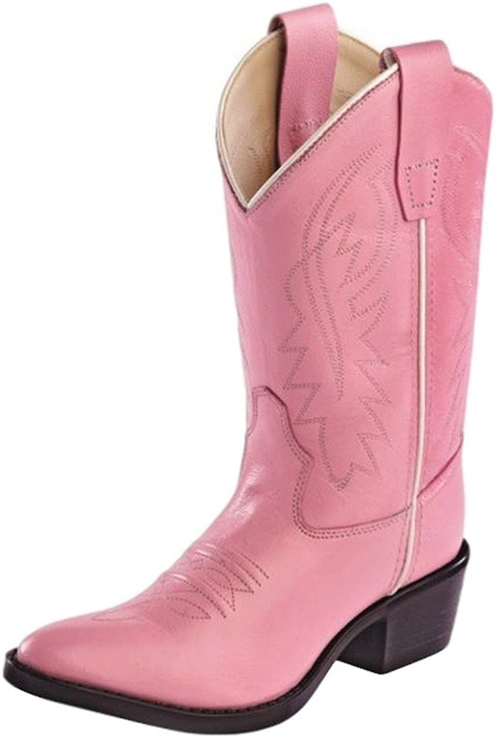 Old West Kids Boots Big Girls' Cowboy Leather Boots