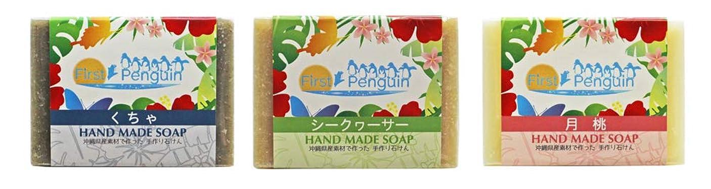 印刷する裏切るポーズ手作り洗顔石けん (くちゃ、シークヮーサー、月桃)
