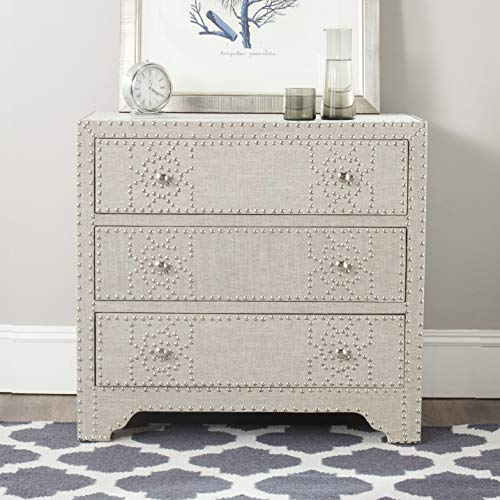Safavieh American Homes Collection Gordy Grey 3 Drawer Chest Standard