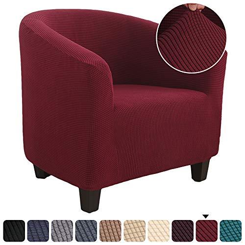 laamei Funda de Sillón Chesterfield Tejido Jacquard de Poliéster y Moderna Cubre Sofa para Salon Oficina Extraíbles y Lavables Funda Protector para Sillón Universal