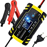 Cargador de batería inteligente 150Ah, cargador de batería de coche de 12V 24V, para batería de coche/ATV/barco/motocicleta, enchufe de la UE