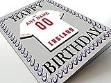International de rugby à XV Aimant de réfrigérateur Cartes d'anniversaire–n'importe quel nom, n'importe quel Nombre n'importe quelle Équipe, England International Rugby Fridge Magnet Card
