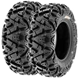 Set of 2 SunF A033 Power.I AT 27x9-14 ATV UTV Off-Road Tires All-Terrain, 6 Ply Tubeless