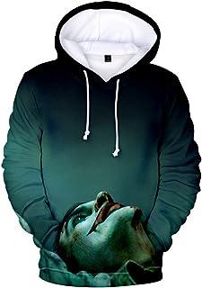 FADER Unisex Impresión 3D HD Sudadera con Capucha Joker Camisa Casual De Manga Larga Jersey Cuello Redondo Sudadera De Bol...