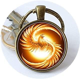 yi sheng Phoenix Bird Key Chain, Jewelry, Fire Bird Phoenix Keyring, Jewellery, Bird Key Chain.
