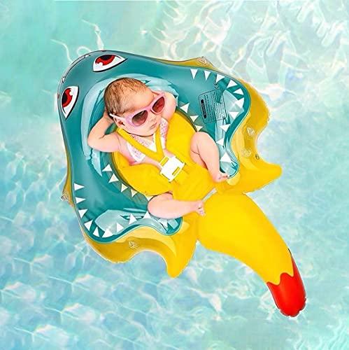 Myir JUN Baby Schwimmring, Teufelsfisch aufblasbarer Schwimmreifen Baby Schwimmen Float Schwimmsitz für Kleinkind Schwimmhilfe Spielzeugfür das Alter von 3-36 Monaten