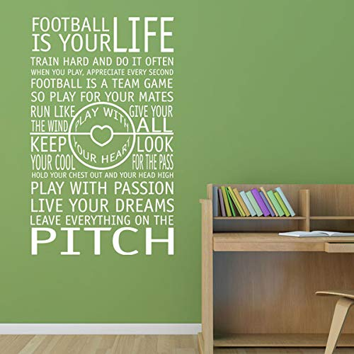 Football Rules Inspirational Quotes Boys Bedroom Vinyl Wall Art Sticker Decal