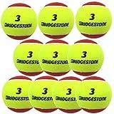 BRIDGESTONE(ブリヂストン) キッズ・ジュニア PLAY+STAYノンプレッシャーテニスボール3 1袋2球入り 5袋セット イエロー×レッド BBAPS3-5SET
