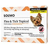 Amazon Brand - Solimo Flea and Tick Topical Treatment for Dogs, For Small Dogs (5-22 pounds), 6 Doses