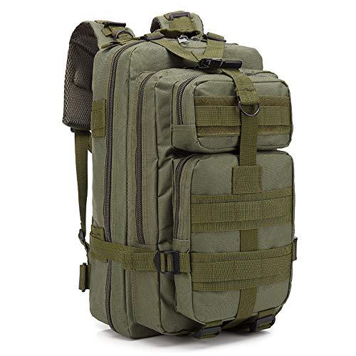 LHI zaino scuola uomo donna, piccolo militare tattico zaini escursionismo per outdoor trekking campeggio... (Army Green(45*25*23*cm))