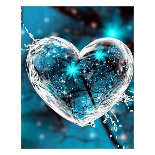 kekison Diamond Painting 5D mit Motiv Liebe Herz Set Malen nach Zahlen Diamant Painting Malerei Kits Bilder Arts Craft Zimmer Home Wand-Decor Deko Wohnzimmer