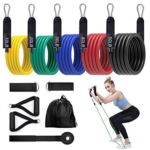 Elastici Fitness Set EgoIggo,Bande Elastiche Resistenza,150LB (1 Pezzi)Elastici Fitness Bande Elastiche Fitness,Elastici per Fitness, Sospensioni, Resistenza, Velocità, Yoga,Pilates