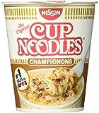 Nissin Cup Noodles Champignons, 4er Pack (4 x 64 g Becher) -