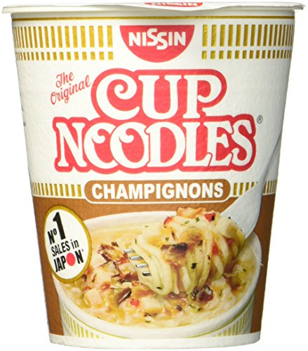 Nissin Cup Noodles Champignons, 4er Pack (4 x 64 g Becher)