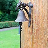 Doorbell Front Bell Europe And The United States Retro Rural Pastoral Double Bird Manual doorbell Creative Personality Cast Iron Wrought Iron Manual doorbell Wall Bell Hand Crank Door Bell Doorstop