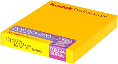 Kodak 880 6465 Portra 400 Professional ISO 400, 4 x 5 Inches, 10 Sheets, Color Negative Film (Yellow)