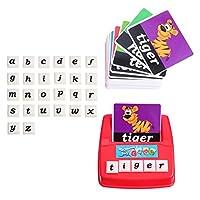 NUOLUX 1セットマッチング手紙ゲーム子供のためのスペル文字の単語教育ゲーム見てスペル学習おもちゃ幼児単語ゲーム教育学習おもちゃ