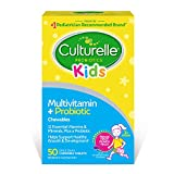 Culturelle Kids Complete Multivitamin + Probiotic Chewable - Digestive & Immune Support for Kids - With Vitamin C, D3 and Zinc - 50 Count, Multi, Fruit