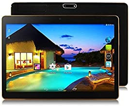 10 Inch Phablet Android 8.1 Dual SIM Card Tablet Unlocked Pad with Octa Core Slot 4GB RAM 64GB ROM Built-in WIFI Bluetooth GPS Netflix Youtube TYD-107 -Black