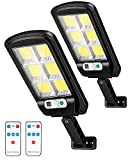 Outerman LED Solar Street Lights, 2 Pack Motion Sensor Security Wall Light, 120 LED 6000lm Outdoor...