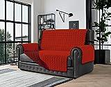 Banzaii Copridivano 3 Posti Antimacchia, Salvadivano Trapuntato Bicolore Rosso/Bordeaux per Seduta da 170 a 195 cm
