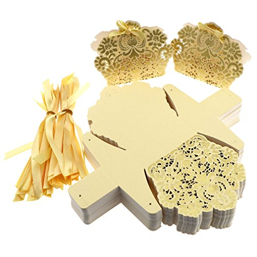 100PCS Luxury Wedding Favour Favor Sweet Cake Gift Candy Boxes Table Deco