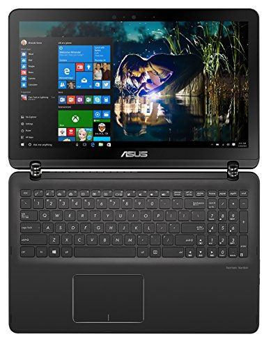 "Asus - Q524UQ-BHI7T15 2-in-1 15.6"" Touch-Screen Laptop - Intel Core i7-7500U - 12GB Memory - NVIDIA GeForce 940MX - 2TB Hard Drive - Sandblasted black aluminum with gunmetal hinge"
