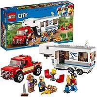 LEGO City Great Vehicles - Camioneta y Caravana, Juguete de Construcción con Coche Todoterreno para Niños y Niñas de 5 a 12 Años y Figura de Cangrejo, Incluye Minifiguras (60182)