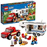 LEGO City Great Vehicles Pickup & Caravan Playset, Vehicle Construction Toys for Kids